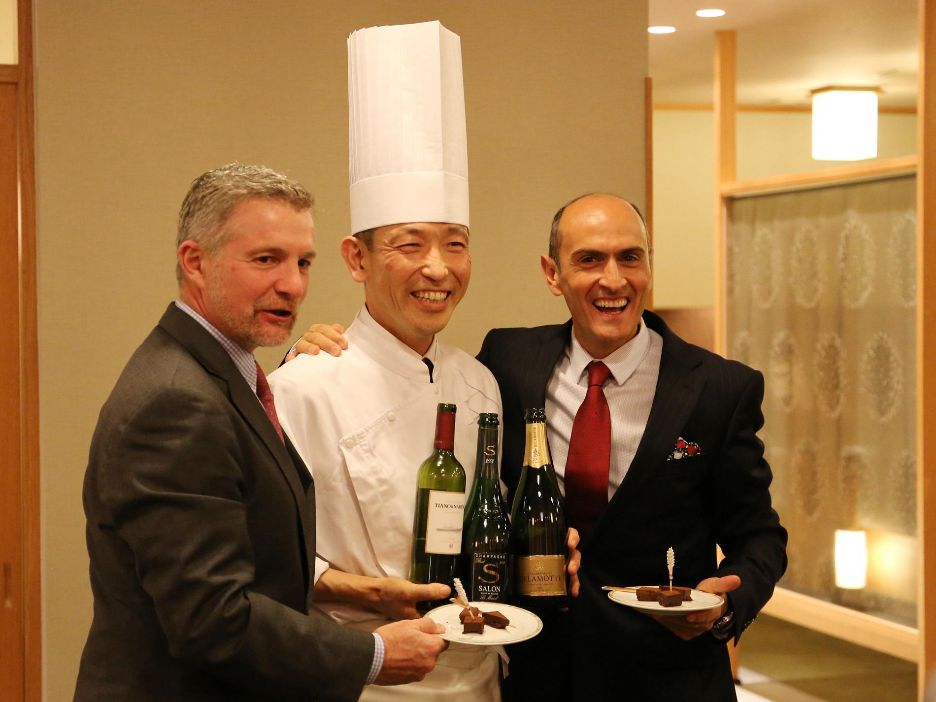 デュポン社長、中野総料理長、アリエル・サビナ オーナー